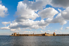 Город Oreshek крепости, королевская тюрьма стоковое фото rf