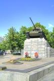 Город Oryol Памятник к квадрату мира топливозаправщиков Стоковое Изображение RF