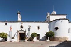 Город Parador гостиницы Мериды Испании, вид спереди Стоковые Изображения RF