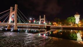 Город Phan Thiet к ноча Стоковые Фотографии RF
