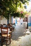 Город Plaka в острове Milos Стоковые Изображения RF