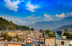 Город Pokhara, Непала Стоковое Фото