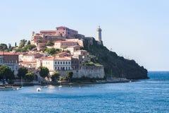 Город Portoferraio, острова Эльбы Италия Стоковое Изображение RF