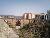 Город Puente Nuevo Ronda стоковое фото