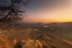 Город Puskhar на восходе солнца Стоковая Фотография RF