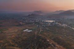 Город Puskhar на восходе солнца Стоковое Изображение RF