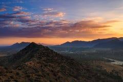 Город Puskhar на восходе солнца Стоковое Изображение