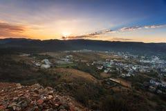 Город Puskhar на восходе солнца Стоковые Изображения