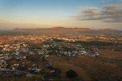 Город Puskhar на восходе солнца Стоковые Фото