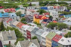 Город Reykjavik, Исландия Стоковое Изображение
