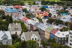 Город Reykjavik от верхней части Стоковые Изображения RF
