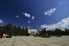 Город Rybnitsa в Приднестровье, на левом береге реки Днестра Стоковая Фотография