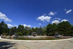 Город Rybnitsa в Приднестровье, на левом береге реки Днестра Стоковые Изображения
