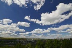 Город Rybnitsa в Приднестровье, на левом береге реки Днестра Стоковые Фото
