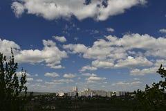Город Rybnitsa в Приднестровье, на левом береге реки Днестра Стоковое Изображение