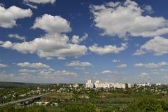 Город Rybnitsa в Приднестровье, на левом береге реки Днестра Стоковая Фотография RF