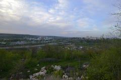 Город Rybnitsa в Приднестровье, на левом береге реки Днестра Стоковые Изображения RF