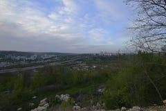 Город Rybnitsa в Приднестровье, на левом береге реки Днестра Стоковое Фото