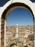 Город Sanaa старый, Йемен стоковое фото