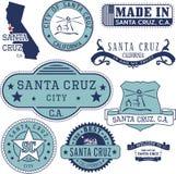 Город Santa Cruz, CA Штемпеля и знаки Стоковые Изображения