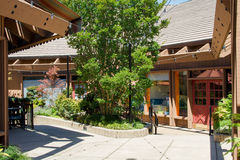 Город Saratoga, деревенской площади Калифорнии Стоковая Фотография RF