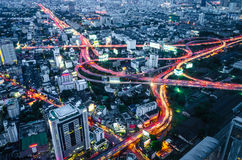Город Scape, Бангкок, Таиланд Стоковые Изображения RF