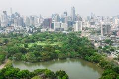 Город Scape Lumpini на Бангкоке, Таиланде Стоковые Фото