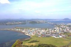 Город Seongsan - остров Jeju Стоковое Изображение