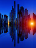 Город Soundwave 4 Стоковые Изображения RF