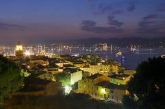 Город St Tropez стоковые изображения