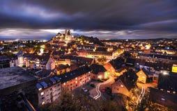 Город Stadt Rhein Breisach am Rhein ландшафта ¼ Deutschland Frà nster ¼ Германии Mà hling Стоковые Изображения RF