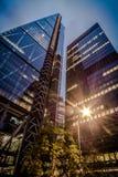 Город Syscrapers Лондона, здание Leadenhall стоковое изображение