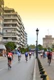 Город Thessaloniki конкуренции велосипеда Стоковые Фотографии RF