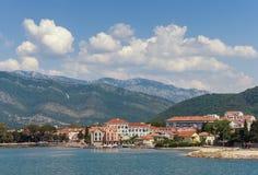 Город Tivat, Черногория Стоковое Изображение