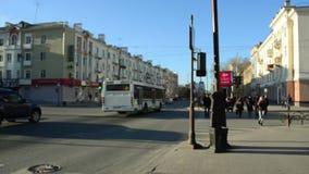 Город trraffic перекрестки Пешеходный переход видеоматериал
