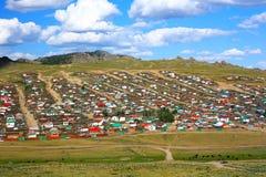 Город Tsetserleg, Монголия Стоковое Изображение