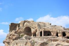 Город Uplistsihe пещеры старый языческий стоковая фотография rf