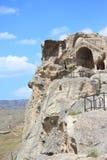 Город Uplistsihe пещеры старый языческий стоковые фотографии rf