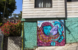 Город ValparaÃso в Чили Стоковые Фото
