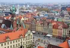 Город Wroclaw, Польши стоковое фото rf