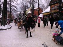 Город Zakopane в Польше стоковое фото