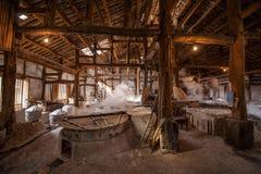 Город Zigong, провинция Сычуань, тысяча метров старого соли - колодцы моря руин сына воспроизводят старую традицию ремесла соли Стоковая Фотография