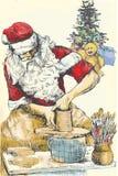 Горшечник Santa Claus иллюстрация штока