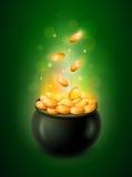 Горшок с золотом Стоковая Фотография RF