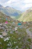 горы лагеря Стоковое Фото
