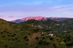 Горы ландшафта в Малаге Стоковые Изображения