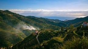 Горы ландшафта в Малаге стоковые фото