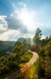 Горы ландшафт и дорога Стоковое Изображение RF