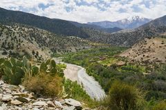 Горы атласа в Марокко, Северной Африке Стоковое фото RF