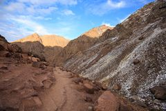 Горы атласа Тропа горы идя Стоковое Изображение